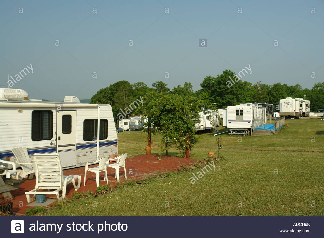 Modern Camping Facilities at Utt's Campground